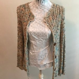 BCBGMAXAZRIA Multicolored Cardigan Sweater Large